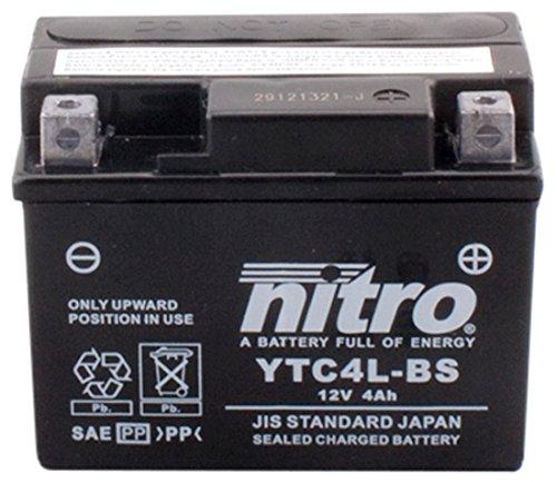 NITRO YTC4L-BS -N- Batteries, Schwarz (Preis inkl. EUR 7,50 Pfand)