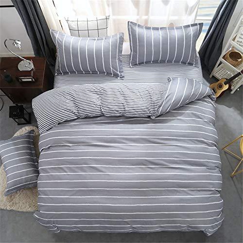 YUNSW Pure Cotton Einfache Bettbezug Set King Queen Twin Size Set Drucken Geometrische Bettwäsche Quilt Sheet B 200x230cm (Wasserdichte Twin-sheet)