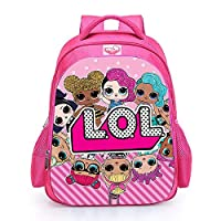 LOL Surprise Pink School Bag | Backpack | Large Capacity | Double Opening Zipper | Ergonomic Design