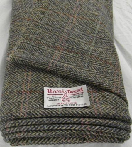 Harris Tweed Stoff, 100% reine Schurwolle, mit Etiketten, 75cmx50cm,...