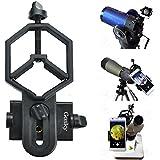 Formato grande universal adaptador de teléfono y Mount Soporte de trípode para iPhone Sony Samsung Moto–Cámara de catalejo/Telescopio/Microscopio/Binocular–& # xff08; para ocular 32mm de diámetro de 62mm & # xff09;