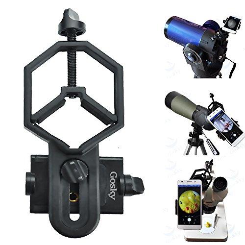 Großformat Universal Telefon Adapter und Mount Stativ-Halterung für Iphone Sony Samsung Moto - Kamera- Spektiv/Teleskop/Mikroskop/ Ferngläser -(für Okulardurchmesser 32mm -62mm Universal Handy-adapter