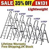 Foldable 3 4 5 6 7 8 Step Ladder Stepladder Non Slip Tread