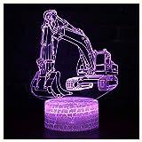 SUA ONG 3D Nachtlicht, Geländewagen-Rennfernsteuerungs-kreatives Plug-in-buntes Nachtlicht 3d führte Noten-Geschenk-Licht-Nachttischlampe, Nachtlicht 3D -06 (stil : D)