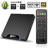 TV Box Android 7.1 - Smart TV Box Amlogic S905W Quad Core, 1GB RAM & 8GB ROM, 4K*2K UHD H.265, HDMI, USB*2, WiFi Media Player, Android Set-Top Box