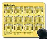 2019 Kalender-Mauspad-Design, Kalender USA Gaming-Mauspads, Kalenderplaner 2019 mit Feiertagsdetails