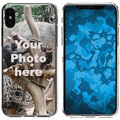 PhoneNatic Case kompatibel mit iPhone XS Max Personalisierte Handyhülle Clear zum selbst gestalten mit eigenem Foto