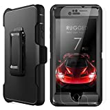 "iPhone 8 Plus H�lle, iPhone 7 Plus H�lle,  MBLAI Heavy Duty Serie Sto�fest Outdoor 4 Layer Armorbox Schutzh�lle Cover Full Body Case Schale mit eingebautem Displayschutzfolie und G�rtelclip f�r Apple iPhone 7 Plus / iPhone 8 Plus 5.5"",Schwarz Bild"