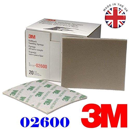 3M esponja de lija (1pieza) de tapa blanda 2600Micro Fine abrasivos grado gama 1200# -1500#