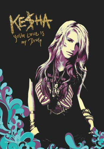 Kesha Drapeau - Your Love Is My Drug - poster drapeau 100% polyester taille 75 x 110 cm