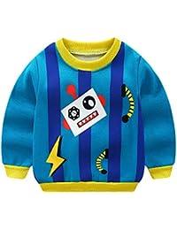 POLP Niño Invierno Unisex Camiseta de Manga Larga para niños Otoño Invierno Bebe Niña Pulóver Camisa