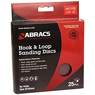 Abracs 150mm x 80g Hook and Loop Disc (25 Pieces)
