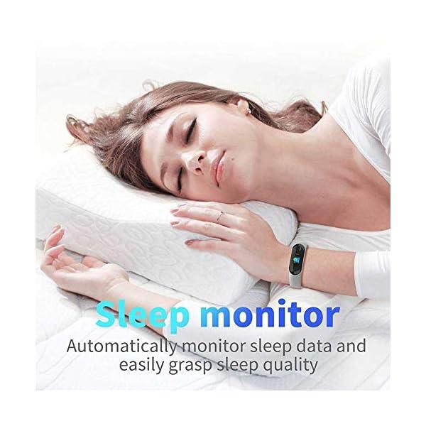 Pulsera inteligente/rastreador de fitness, pantalla de color HD IP68 impermeable M3 Plus pulsera de seguimiento de… 3