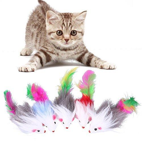 Broadroot 5PCS morbido pile giochi per gatti topo finto divertente gatto gattino giocare giocattoli