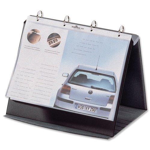 Preisvergleich Produktbild Durable 856739 Tischflipchart Durastar (mit 10 PP-Hüllen, A4, quer, 265 x 260 x 330 mm) basalt