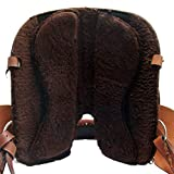 Baumloser Westernsattel INDIANA aus Büffelleder mit Klettkissen, Größe:16 Zoll - 5
