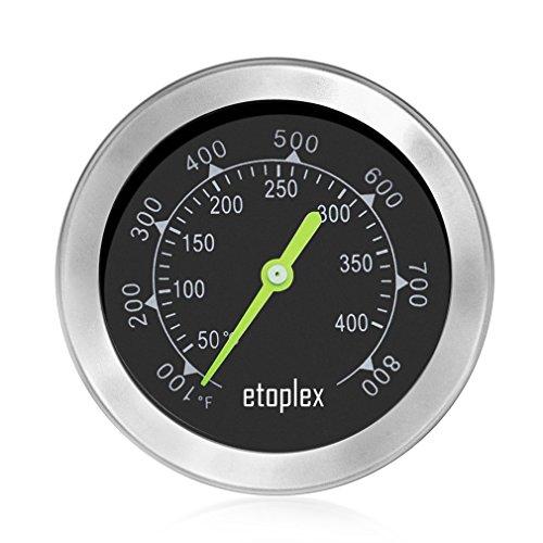 ETOPLEX 60040 BBQ Grillzubehör, Thermometer für den Ofen /Grill / Räucherofen / Grillwagen / Backen (Bis zu 400 °C), Grillthermometer