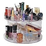 Kosmetikorganizer, drehbar, vielseitig einsetzbar, mit ausziehbarem Fach und vielen anderen Verstaumöglichkeiten, auch ideal für Schmuck oder Bastelzubehör, kann bis zu 200 Artikel aufnehmen