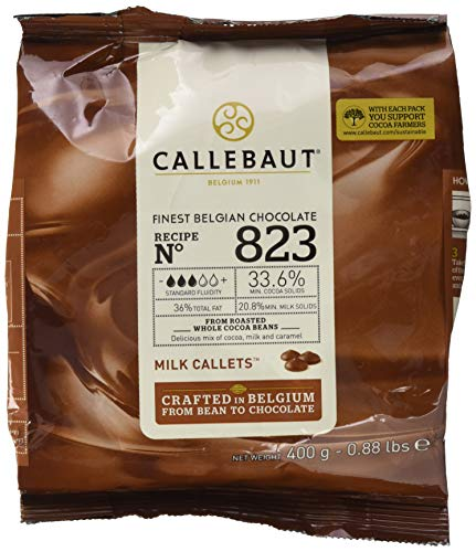 Callebaut Callets 823 belgische Vollmilchschokoladenkuvertüre 400g