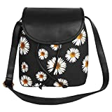 Best Lychees - Lychee Bags Women's PU Canvas Black Sling Bag Review