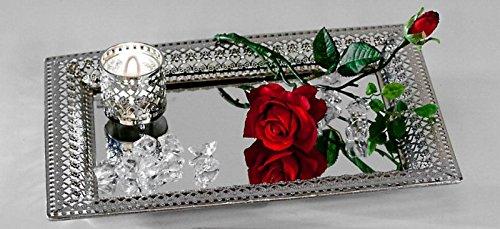 4025809658142 formano miroir de plateau romantique argent mtal 27 x 38 cm - Plateau Romantique