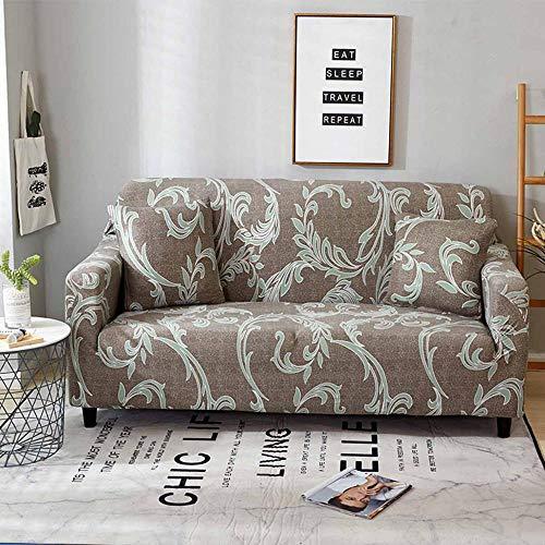 Sslboo divano imbottito per divano a 2/3/4 posti con poltroncina proteggi divano a sdraio imbottito elastico per divano copridivano-10 artist cachi, seduta per tre persone