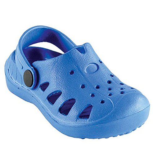 Luvable Friends Baby Wide Band EVA Clogs (12 - 18 Months, Blue)