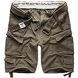Surplus Raw Vintage Division Herren Cargo Shorts, Oliv, S