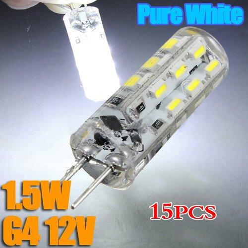 SODIAL (R) LAMPADINA 15X G4 1.5W LED SOSTITUIRE lampada alogena 12V SMD Led Light lampade a bulbo