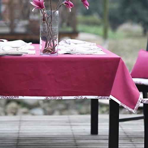 uus Nappe Flower-de-luce Blanc Couleur Pastoral Style Belle et respectueuse de l'environnement Différentes tailles pour votre choix (Couleur : Rouge, taille : 140 * 90cm)