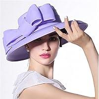 Yiwuhu Sombrero de la protección Solar de la Gasa del Verano de Hat Lady para Las señoras al Aire Libre. Simple