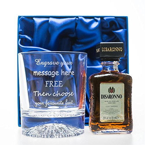 engraved-personalised-alaska-crystal-glass-tumbler-disaronno-amaretto-miniature-gift-set-in-silk-gif