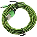 HuntGold Haute vitesse 2M charge rapide data câble micro USB corde pour Android Phone Samsung vert