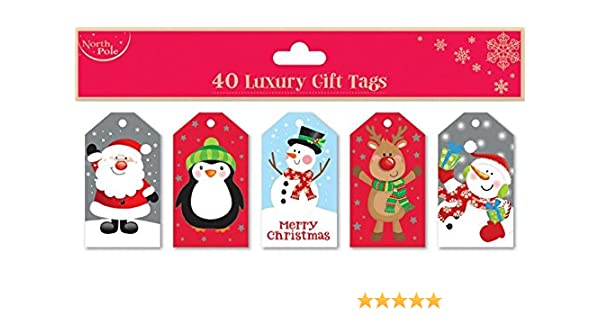 Christmas Gift Tags For Kids.Christmas Luxury Gift Tags 40 Pack Kids Set Childrens Xmas Presents Quality Wrap