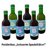 """Allacher Glühwein-/Punsch-Probierbox """"bekannte Spezialitäten"""", 6 Flaschen je 0,25 l"""