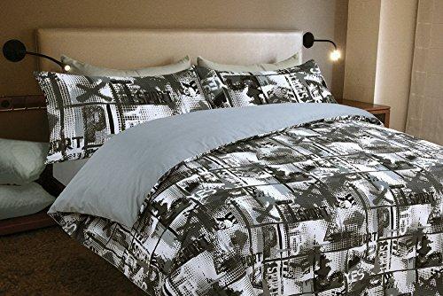 Juego de sábanas estampado YES (para cama de 180x190/200)