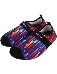 Unisex Zapatos de Agua de Aatación Calzado de Agua Calzado de Surf Calzado de Playa (Multicolor, XXL)