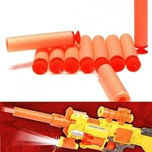 Pack de 10 EVA Balles Cartouches Souples Jeux de Plein Air pour PISTOLET NERF N STRIKE