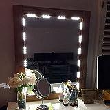 Muizlux Spiegelleuchte Schminklicht, Spiegellampe, Schminkleuchte ON/OFF, Make-up Licht Schmink Lampe, Schminktisch Leuchte Spiegellicht Set für Kosmetikspiege ,5500K Spiegel Nicht Inbegriffen