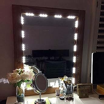 muizlux spiegelleuchte schminklicht spiegellampe schminkleuchte on off make up licht schmink. Black Bedroom Furniture Sets. Home Design Ideas