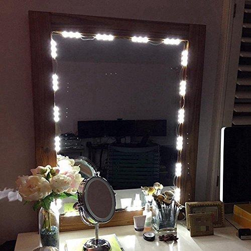 Muizlux Spiegelleuchte Schminklicht, Spiegellampe, Schminkleuchte ON/OFF, Make-up Licht Schmink Lampe, Schminktisch Leuchte...