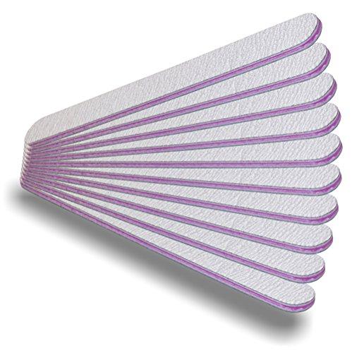 10 pcs file di pacchetto professionale zebra dritta 180/240 - zebra nail file lima professionale - made in Germania