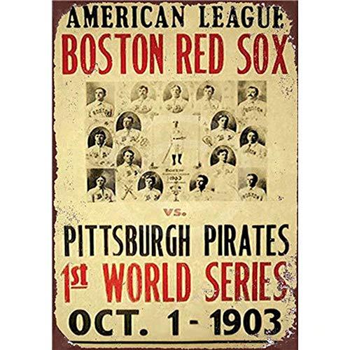 Kia Haop Boston Red Sox Metall Blechschild Garage Cafe Garten Wohnzimmer Küche Plaque Art Poster Metallschild Wand Dekoration Sox-logo Mini
