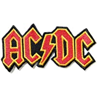 """4"""" X 2""""AC/DC ACDC Heavy Metal Rock Punk Music Band Logo Polo T shirt Patch Sew Iron on Embroidered Costum"""