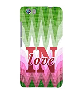 EPICCASE in love Mobile Back Case Cover For Micromax Canvas Fire 4 A107 (Designer Case)