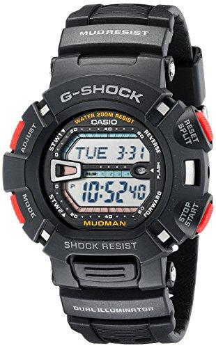 Black MudMan G-Shock Resin Strap Digital usato  Spedito ovunque in Italia