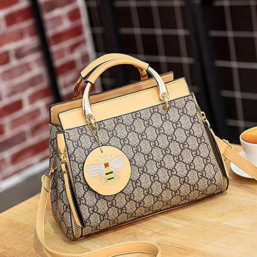 YZJLQML Dame bagsPersonality beiläufige Damentaschenhandtaschenart und weisehandtasche einfache Schulter große Kapazität, cremeweiß 1