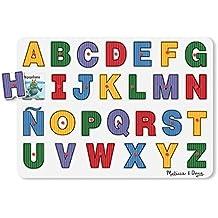Melissa & Doug 23271 - Mira adentro: rompecabezas de clavijas, del alfabeto en español