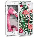 kwmobile Apple iPhone 7/8 Hülle - Handyhülle für Apple iPhone 7/8 - Handy Case in Rosa Grün Transparent