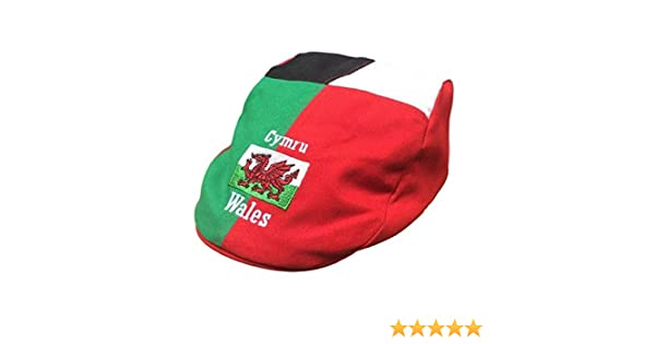 accfb776bdb57 WELSH HARLEQUIN DAI CAP Wales/ Cymru/ Flag/ Novelty/Fun MANAV:  Amazon.co.uk: Clothing
